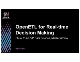 open etl for real time decision making