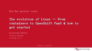 OpenShift - Open Source Days - opensourcedays.hr