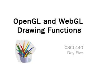 OpenGL and WebGL Drawing Functions