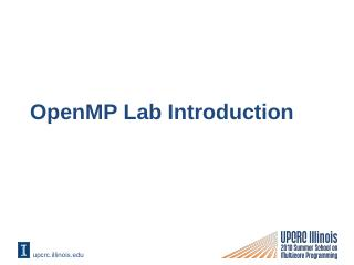 OpenMP Lab Introducti...