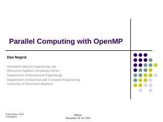 OpenMP - SBEL - Unive...