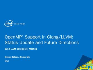 OpenMP status in Clang/LLVM