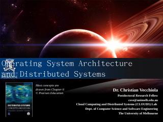 Operating System Architecture and Distributed...