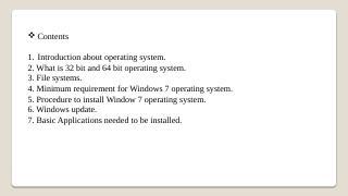 operating system - TIFR