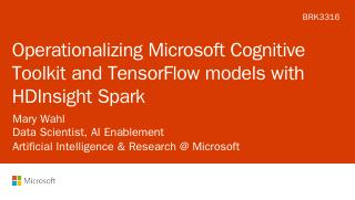 Operationalizing Microsoft Cognitive Toolkit ...