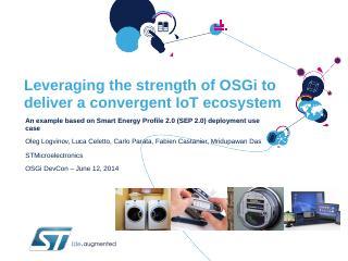 OSGi Community event 2013 -- Ludwigsburg - QC...