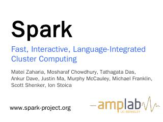 overview.pptx - Apache Spark
