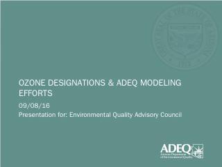 ozone designations & adeq modeling efforts - ...