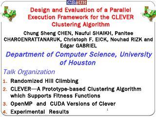 PAR-CLEVER : A Faster Clustering Algorithm - ...
