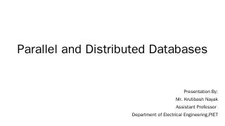 Parallel and Distributed Databases - StudyTer...