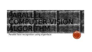 并行计算机视觉算法