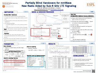 Partially Blind Handover Success Estimation