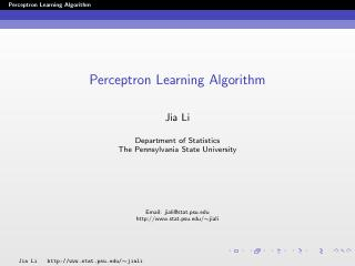 perceptron learning algorithm