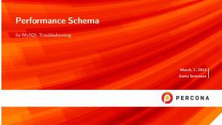 performance schema