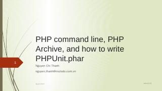 PHP command line, PHP Archive, and how to wri...