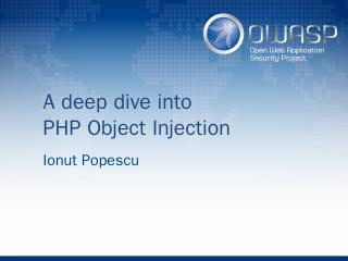 PHP Object Injection - owasp