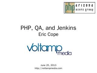 PHPUnit and Jenkins - Voltamp Media