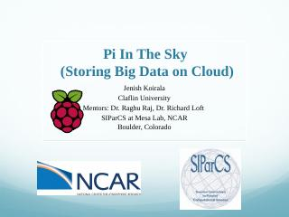 Pi In The Sky - cisl.ucar.edu