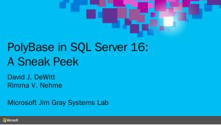 PolyBase in SQL Server 16: A Sneak Peek - Mic...