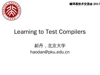 Learning to test compilers