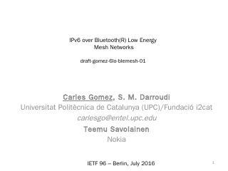 PowerPoint Presentation - IETF