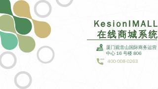 PPT演示 - KESION 一站式电商平...