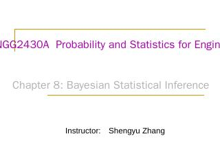 ENGG2430A  Probability and Statistics for Eng...