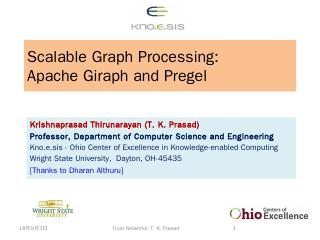 Pregel and Apache Graph - Wright State engine...