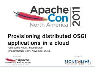 Presentation Title - ApacheCon