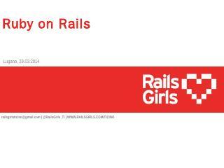 Presentazione standard di PowerPoint - Rails ...