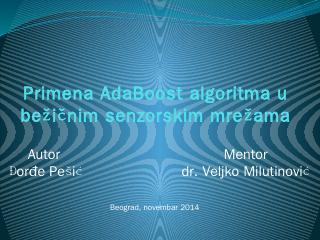Primena adaboost algoritma u beinim senzorski...