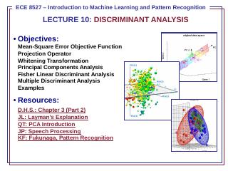 Principal Components Analysis (PCA)