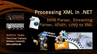 Processing XML in .NET - SoftUni