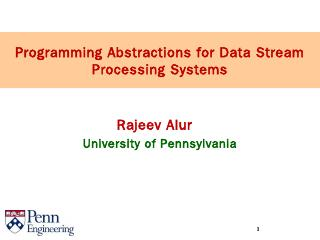 Programming abstractions for processing data ...