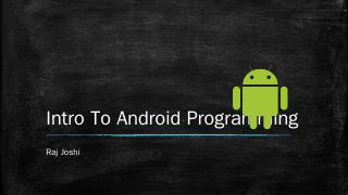 Programming in Android (PPTX)