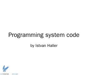 Programming system code
