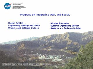 Progress on Integrating OWL and SysML