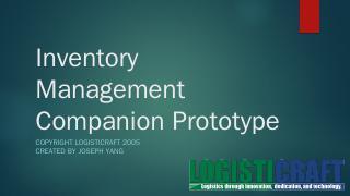 Prototype Inventory Mana - Information Servic...