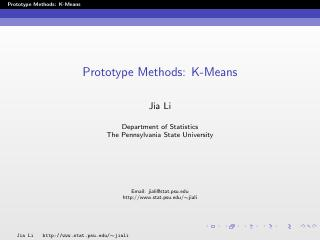 prototype methods:K-means