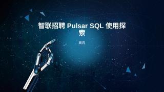 智联 Pulsar SQL 使用探索