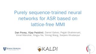 Purely sequence-trained neural networks for A...