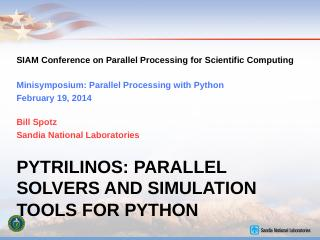 PyTrilinos Tutorial - Sandia National Laborat...