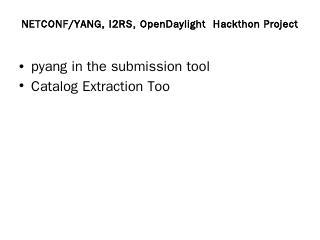pyang in the submission tool - IETF