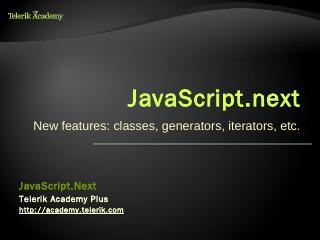 Python Overview - Telerik Academy