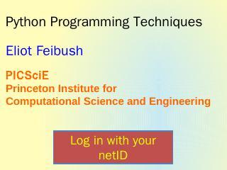 Python - Princeton University