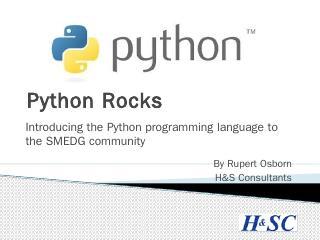 Python Progaming - smedg