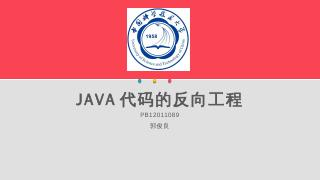 JAVA代码的反向工程