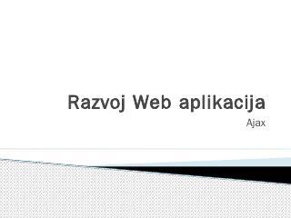 Razvoj Web aplikacija