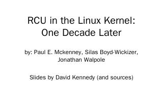 RCU in Linux Kernel - Creating Web Pages in y...