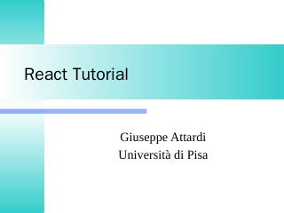 React Tutorial - DidaWiki